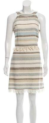 Tory Burch Fringe Patterned Dress