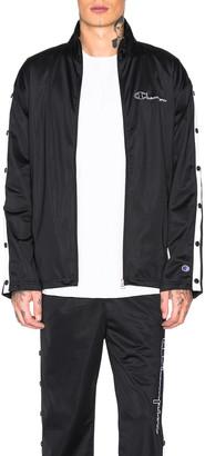 Champion Reverse Weave Champion Full Zip Jacket in Black & White   FWRD
