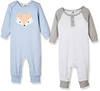 Silly Apples Pure Cotton Baby Boys Girls Long-Sleeve Romper Jumpsuit Onesies 2-Pack ()
