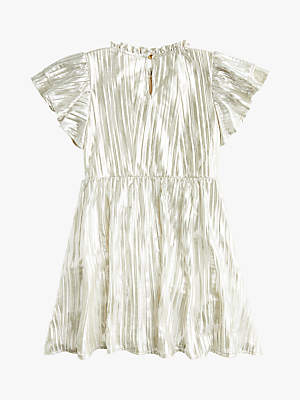 J.Crew crewcuts by Girls' Shimmery Pleated Dress, Silver