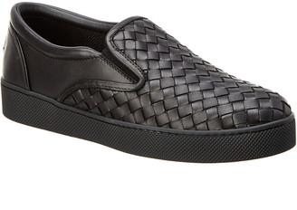 Bottega Veneta Dodger Intrecciato Leather Sneaker