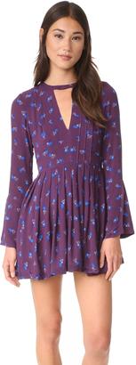 Free People Tegan Printed Mini Dress $98 thestylecure.com