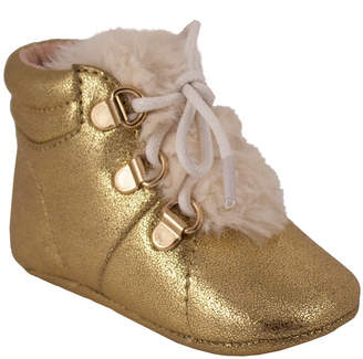 Trimfoot Gold Crackle Metallic Boot