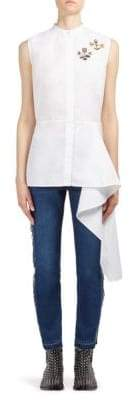 Alexander McQueen Asymmetrical Sleeveless Shirt