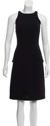 Oscar de la Renta Sleeveless Knee-Length Dress Black Sleeveless Knee-Length Dress