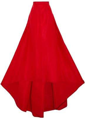 Carolina Herrera Flared Pleated Silk-Faille Maxi Skirt