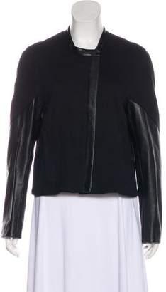 Helmut Lang Lightweight Leather-Trimmed Blazer