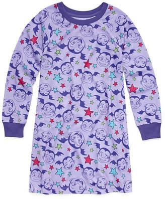 Disney Girls Nightshirt Long Sleeve Round Neck