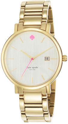 kate spade new york Women's Gramercy Grand Bracelet Watch $225 thestylecure.com