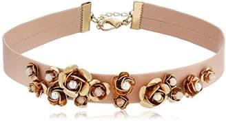 Danielle Nicole Women's Orchid Choker Necklace