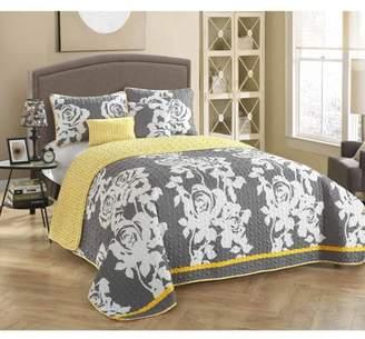 South Beach STYLENEST StyleNest SouthBeach Rose 5-Piece Bedding Quilt Set