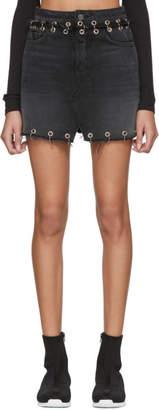 GRLFRND Black Milla Hardware Denim Skirt