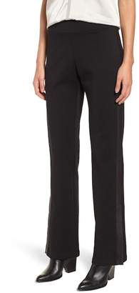 Eileen Fisher Slim Tuxedo Pants with Leather Stripe (Regular & Petite)
