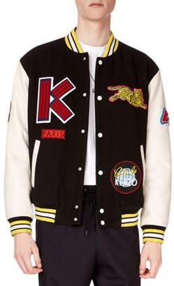 Kenzo Men's Patchwork Varsity Logo Jacket