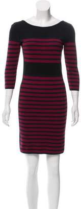 Sonia Rykiel Sonia by Striped Mini Dress