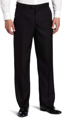 Perry Ellis Men's Portfolio Classic Fit Flat Front Folio Flex Waistband Sharkskin Pant