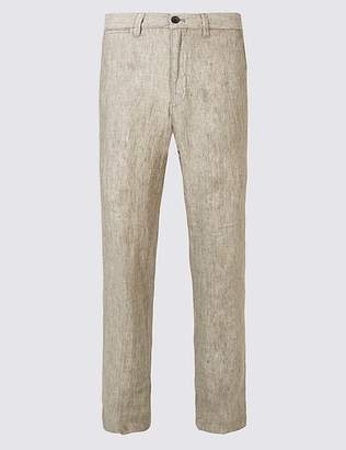 Marks and Spencer Tailored Fit Pure Linen Trousers