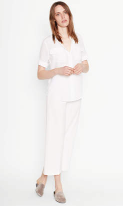 Equipment SHORT SLEEVE SLIM SIGNATURE SILK DRESS
