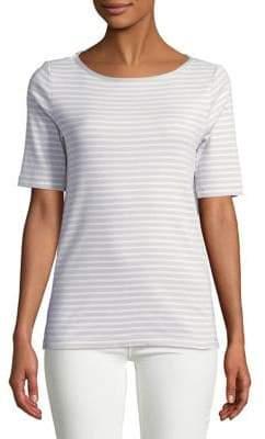 Jones New York Cotton Elbow-Sleeve Top