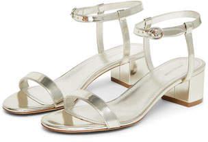 Mansur Gavriel Mirrored Ankle-Strap Sandal