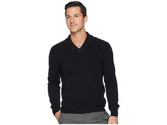 Perry Ellis Texture Pattern Shawl Pullover Sweater