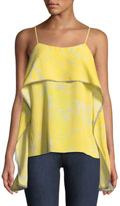 Halston Popover Floral-Print Camisole