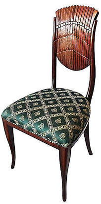 One Kings Lane Vintage Scalloped-Back Side Chair - House of Charm Antiques