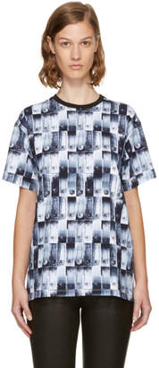Versus Blue Safety Pin Photocopy T-Shirt