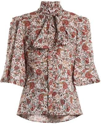 Caroline Constas Hope floral-print cotton blouse