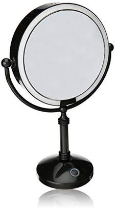 "Modern Mirror LED Lighted 7.5"" Makeup Mirror With 10X Magnification"