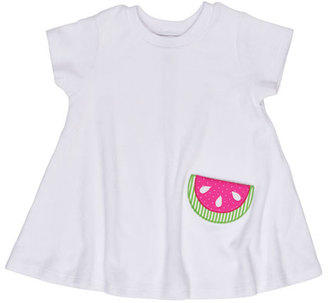 Florence Eiseman Short-Sleeve Terry Watermelon Coverup, White, Size 2-6X $48 thestylecure.com