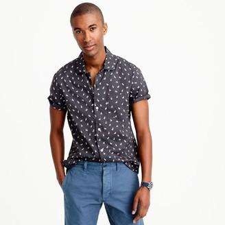 Short-sleeve camp-collar shirt in rabbit print $59.50 thestylecure.com