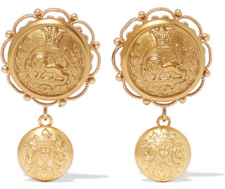 Dolce & Gabbana - Gold-tone Clip Earrings $545 thestylecure.com