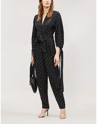 91951af6cbae Stella McCartney Spot-print silk-crepe jumpsuit