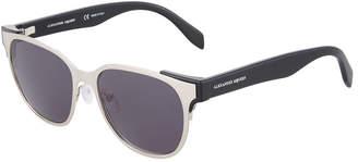 Alexander McQueen Round Metal\/Acetate Sunglasses