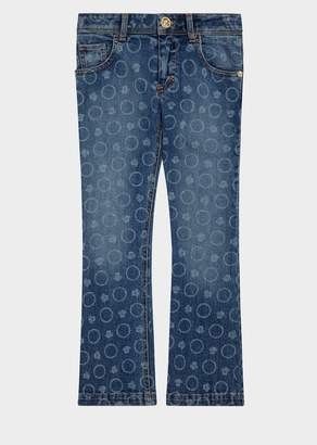 Versace Circle Medusa Baby Jeans