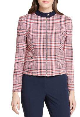 Tommy Hilfiger Plaid Zip-Front Jacket