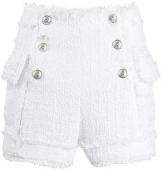 Balmain double breasted tweed shorts