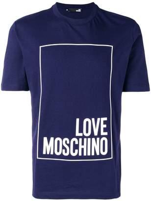 Love Moschino front logo printed T-shirt