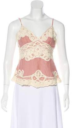 Temperley London Lace Sleeveless Top