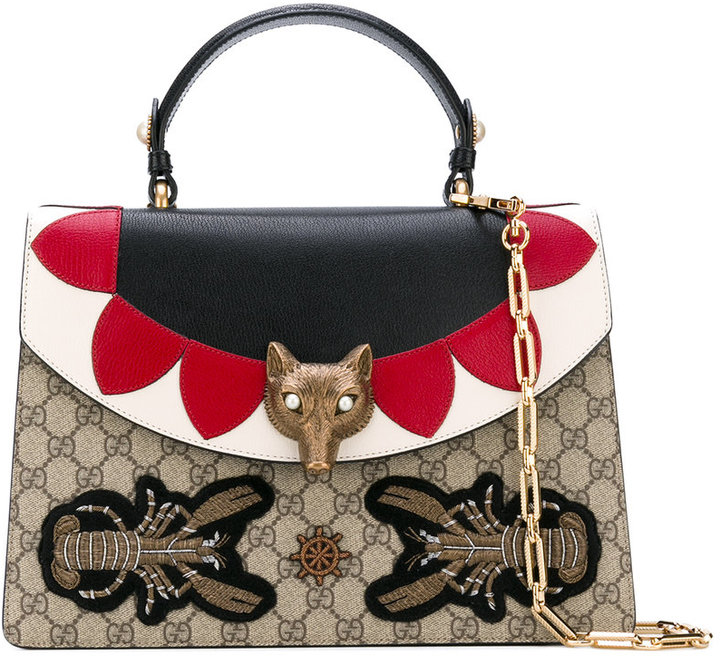 Gucci fox head shoulder bag