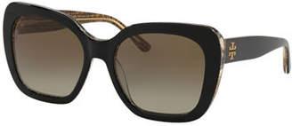 Tory Burch Square Gradient Acetate Sunglasses