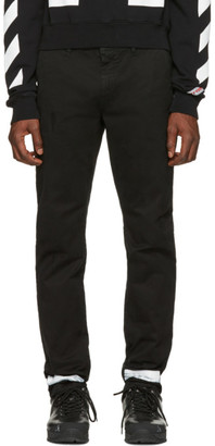 Off-White Black Diagonal Brushed Chinos $495 thestylecure.com