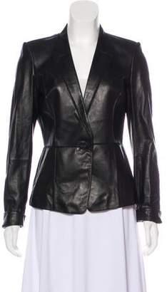 Lafayette 148 Patchwork Leather Jacket