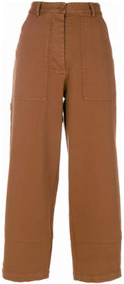 8pm Cropped High-Waist Trousers