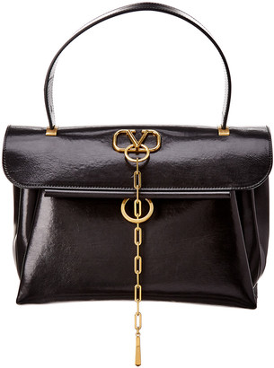 Valentino V-Chain Medium Leather Satchel