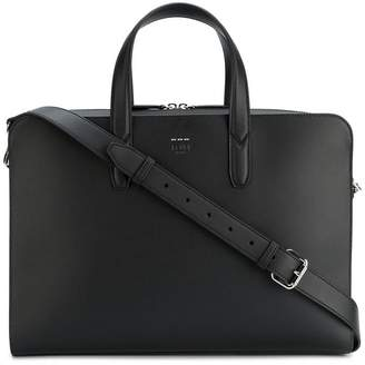 Fendi leather briefcase with shoulder strap