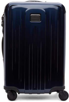 Tumi Navy International Expandable 4 Wheeled Carry-On Suitcase