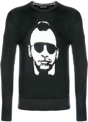 Neil Barrett graphic print jumper