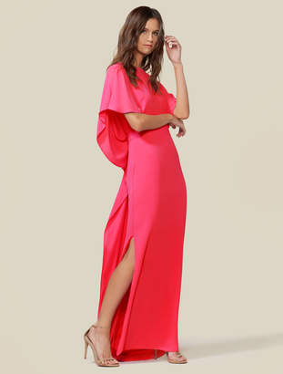 Halston Drape Back Cape Gown